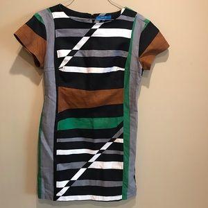 Derek Lam Geometric Print Dress Size 12